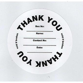 10 Security Seals / Labels for Eco Charity Money Collection Boxes
