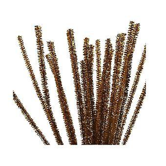 24 metallinen kulta 6mm Tinsel putkien puhdistus aineet | Glitter-Pipecleaners