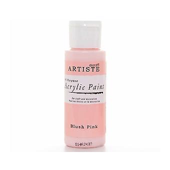 Blush rosa docrafts Artiste All Purpose Acrylic Craft Paint - 59ml