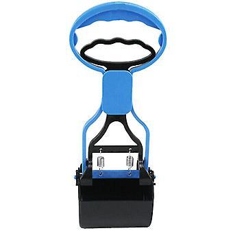 (Albastru) Pet Dog Deșeuri Pickup Pooper Scooper Walking Poop Scoop Grabber Picker Clean Tool