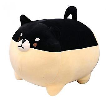 40cm Plush Stuffed Pillow Doll Cartoon Doggy Cute Animal Toy For Kids(Black)