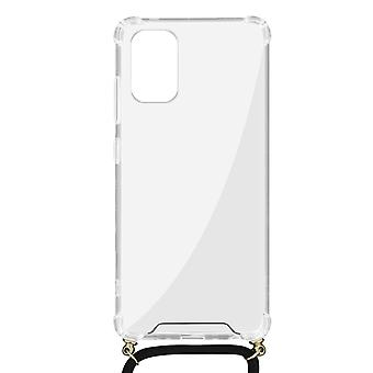 Cover Lanyard for Samsung Galaxy A41 Flexible Neck Strap Clear
