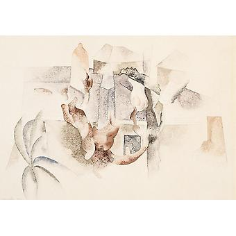 Wallpaper Art Mural Bermuda Landscape 2 by Charles Demuth