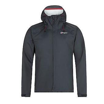 Berghaus Deluge Vented Mens Outdoor Waterproof Full Zip Hooded Jacket Coat Grey