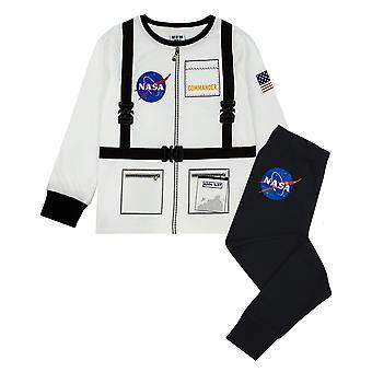 NASA Boys űrhajós egységes hosszú ujjú pizsama készlet