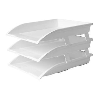 Tier Stackable Desktop Document Rack Letter Tray Organizer File Magazine Holder Layering Paper