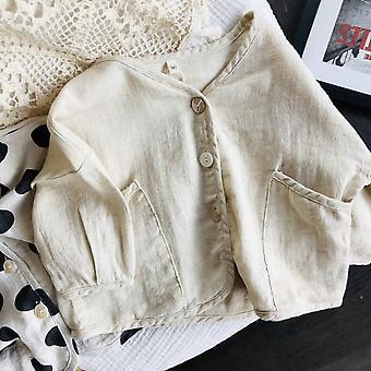معطف لون صلب سترة الطفل