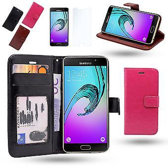 Hoesje / Portemonnee In Leer - Samsung Galaxy A3 2016+Screen Protector