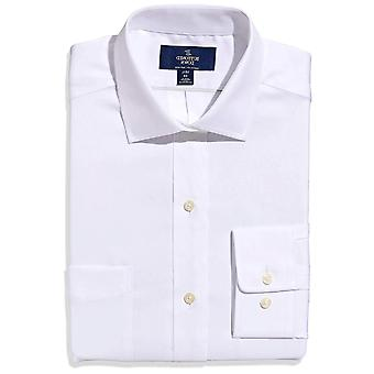 """BUTTONED DOWN Men's Classic Fit Spread-Collar Non-Iron Dress Shirt (Pocket), White, 18.5"""" Neck 38"""" Sleeve (Big and Tall)"""