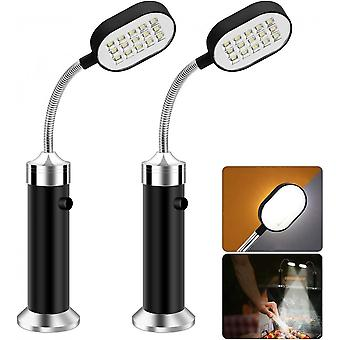 Set Of 2 Double Sided 30 Magnetic Led 360 Degree Adjustable Weatherproof Outdoor Bbq Lights