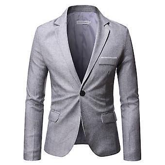 Мужской костюм Куртка Одна пуговица Slim Fit Спортивное пальто Business Daily