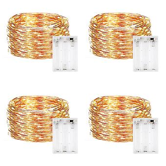 String Lights Party Christmas Decoration Lantern Night Light, 10m*4 Groups,color