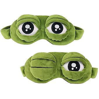 2 Pcs Sleep Blindfold, Creative Cartoon Frog Eye Mask