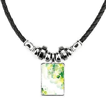 Butterfly Four Clover St.Patrick's Day náhrdelník