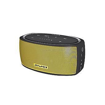 Y210 Bærbar Trådløs Bluetooth-høyttaler V4.2 Med Forbedret Bass, Støtte Nfc / TF-kort / AUX (gul)