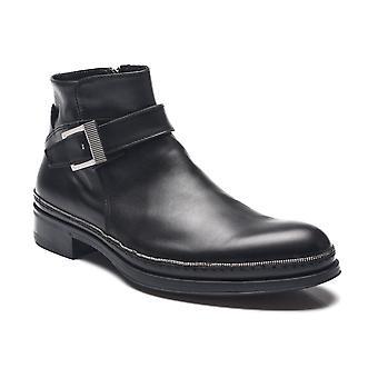 Cesare Paciotti mężczyzn Dan łydki buty Czarna skóra