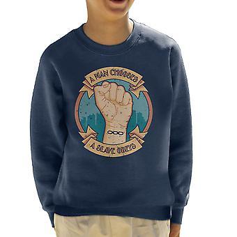 A Man Chooses A Slave Obeys Bioshock Kid's Sweatshirt