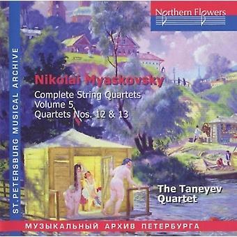 Taneyev Quartet - Nikolai Miaskovsky - Complete String Quartets 5 [CD] USA import