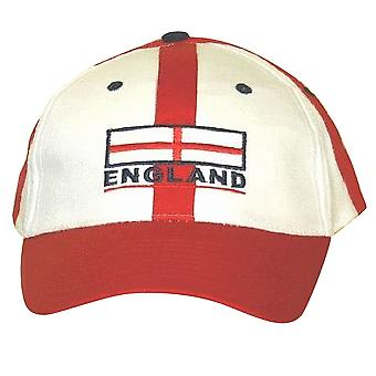 England Baseball Cap Red White With Adjustable Strap
