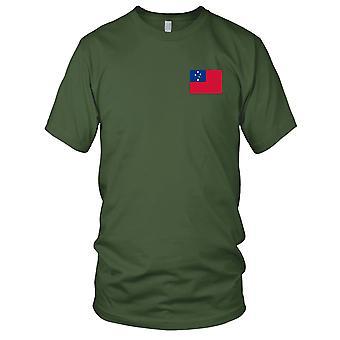 Drapeau National du pays de Samoa - Logo - brodé 100 % coton T-Shirt Kids T Shirt