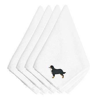 Bernese Mountain Dog bordados servilletas juego de 4