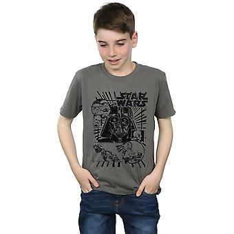 Star Wars Boys Darth Vader Montage T-Shirt
