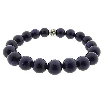 Lapis lazuli Christian bracelet