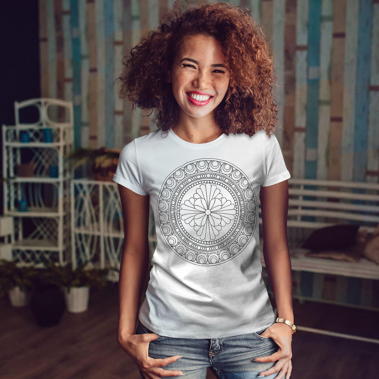 Mandala WhiteT-shirt femme   Wellcoda