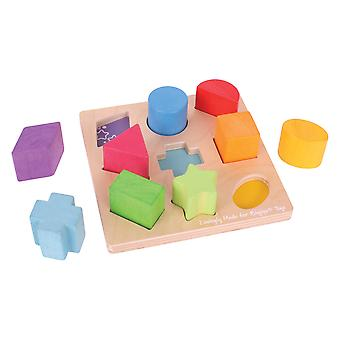 Bigjigs Toys Wooden Educational My First Shapes Sorter Sorting Puzzle