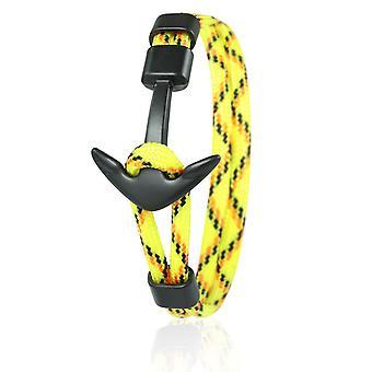 Skipper ancoraggio Bracciale 21 cm in nylon Bracciali in giallo/colorato con ancoraggio nero 6966
