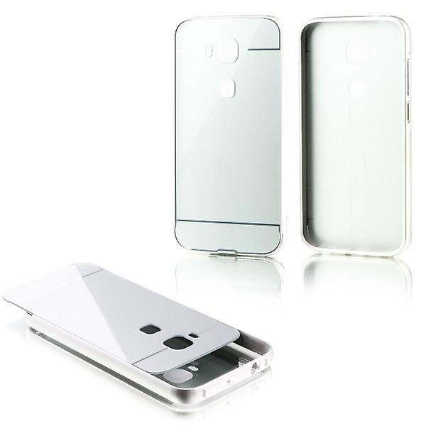 Alu Bumper 2 teilig mit Abdeckung Gold für Huawei G8 5.5 Zoll