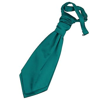 Teal ren Satin pre bundet bryllupet Cravat for gutter