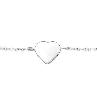 Heart - 925 Sterling Silver Chain Bracelets - W37550x