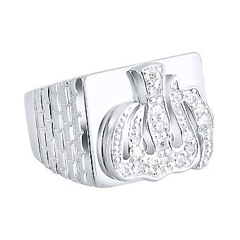 Sterling 925 Silver pave ring - ALLAH