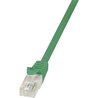 Logilink RJ45 netværk kabel kat 5e U/UTP 7,50 m grøn incl. udløser