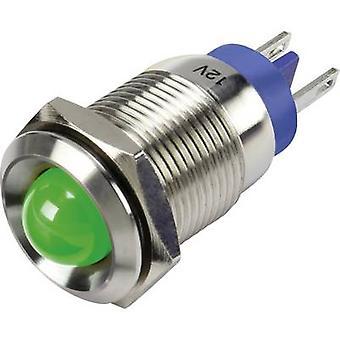 TRU COMPONENTS LED indicator light Green 12 V DC GQ16B-D/G/12 V/S
