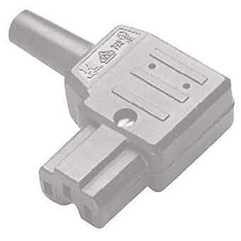 Kaiser 792/gr/C Hot wire connector 792 Series (mains connectors) 792 Socket, right angle Total number of pins: 2 + PE 10 A Grey 1 pc(s)