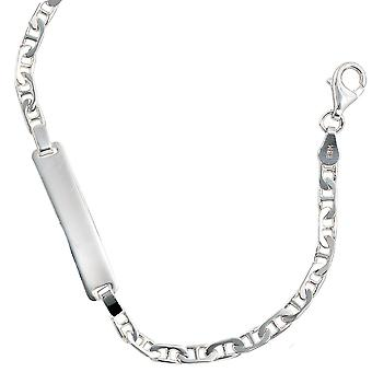 Schild band 925 zilveren gegraveerde armband voor dames armband graveren