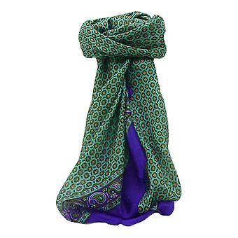 Mulberry Silk Contemporary Square Scarf Lohit Indigo by Pashmina & Silk