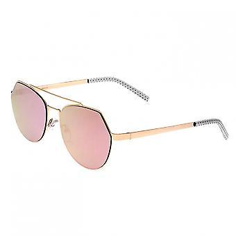Bertha Hadley Sunglasses - Rose Gold/Pink