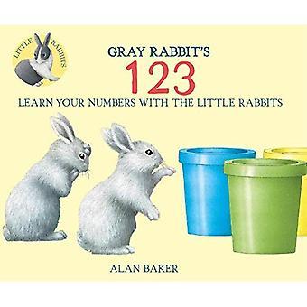 Grijze Rabbit's 123 (kleine konijn Books)