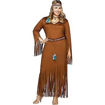 Indisk kvinna Adult kostym
