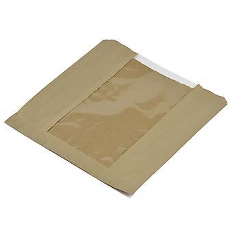 Vegware Compostable Kraft Window Bags 8.5inch