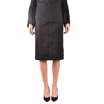 Fendi Black Cotton Skirt