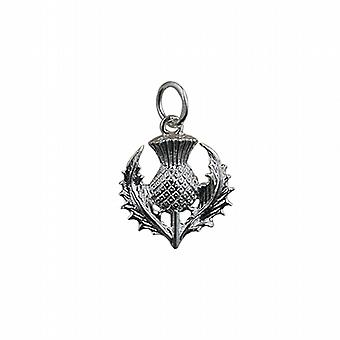 Silver 15mm Scottish Thistle Pendant or Charm