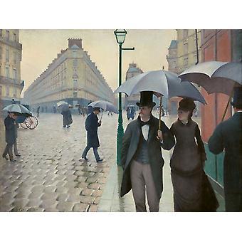 The raining at Paris Street, Gustave Caillebotte, 50x38cm