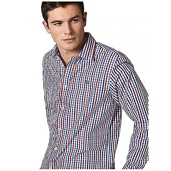 Crew Clothing Classic Fit Gingham Shirt In Red/blue