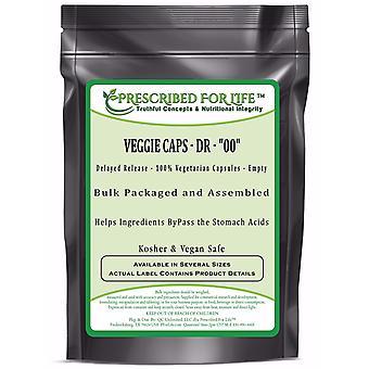 Veggie Caps DR - 100% Vegetarian Capsules - Size