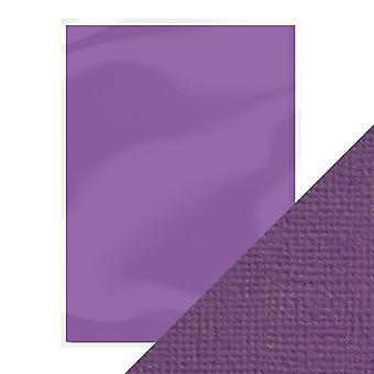 Craft perfect A4 weven getextureerde kaart Amethist Purple Tonic Studios