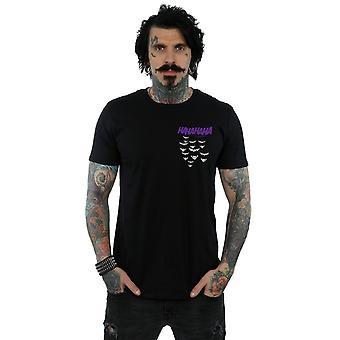DC Comics Men's Batman Joker Smile Breast Print T-Shirt
